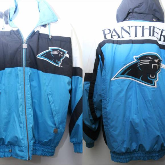 bc9e4385e 90s Vintage Nutmeg CAROLINA PANTHERS Puffer Jacket